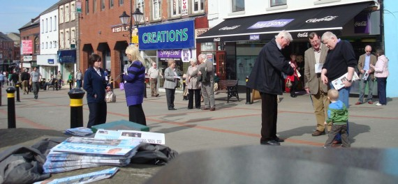 The UCUNF team canvassing in Lisburn's Bow Street one Saturday morning
