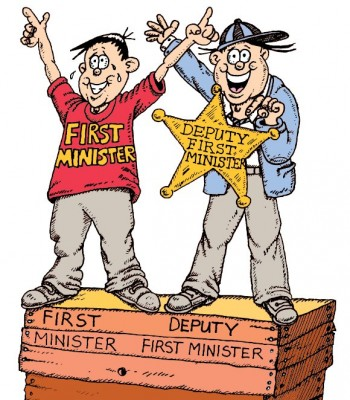 Snippet from NI Assembly comic - First Minister and Deputy First Minister