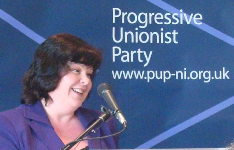 Dawn Purvis speaking at 2009 PUP party conference