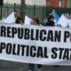 Lurgan republican prisoner protest via sceal on ir.net