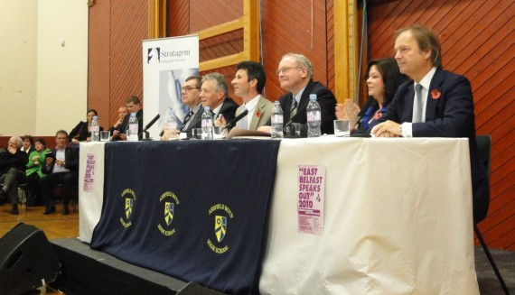 The panel at 2010 East Belfast Speaks Out