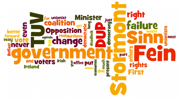 Jim Allister TUV 2010 conference speech Wordle