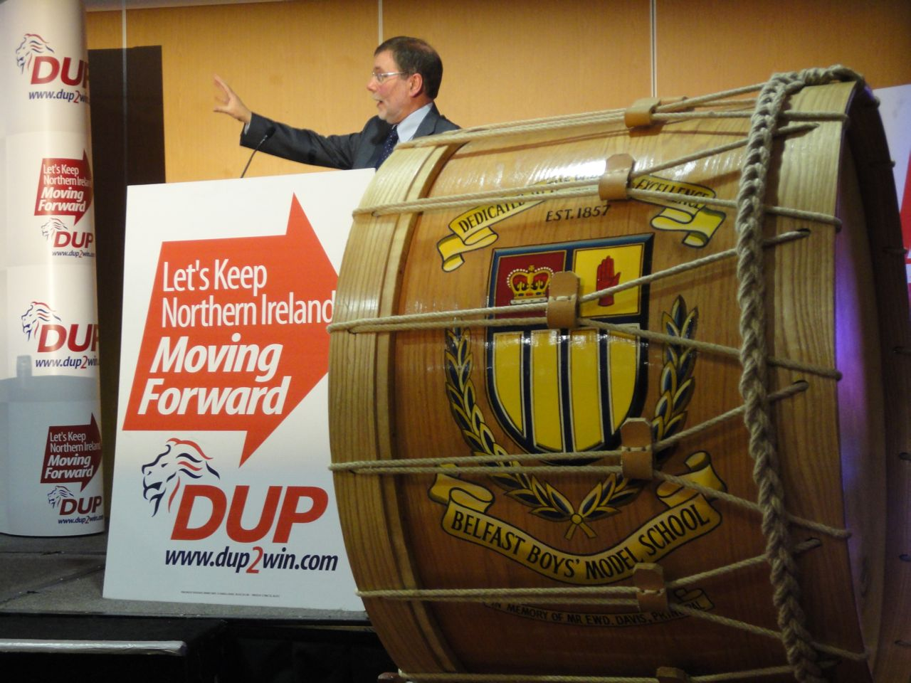 Nelson McCausland speaking at his session at 2010 DUP Conference on Why unionists ignore culture at their peril