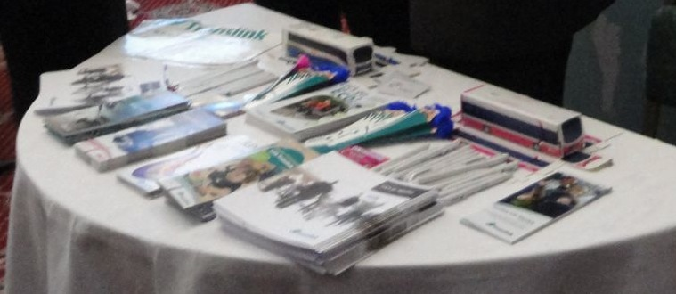 Close up of Translink table at DUP conference