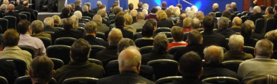 Sea of heads from the back - UUP Conference