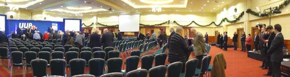 National Anthem at end of UUP conference