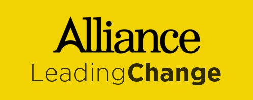 Alliance leading change banner