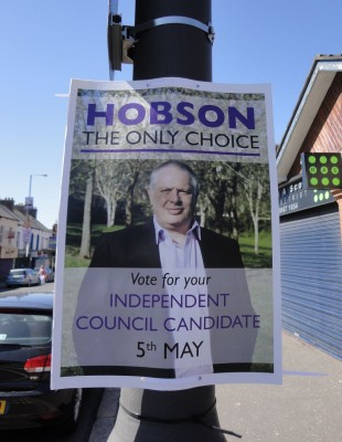Roy Hobson - independent council candidate in Belfast's Victoria ward