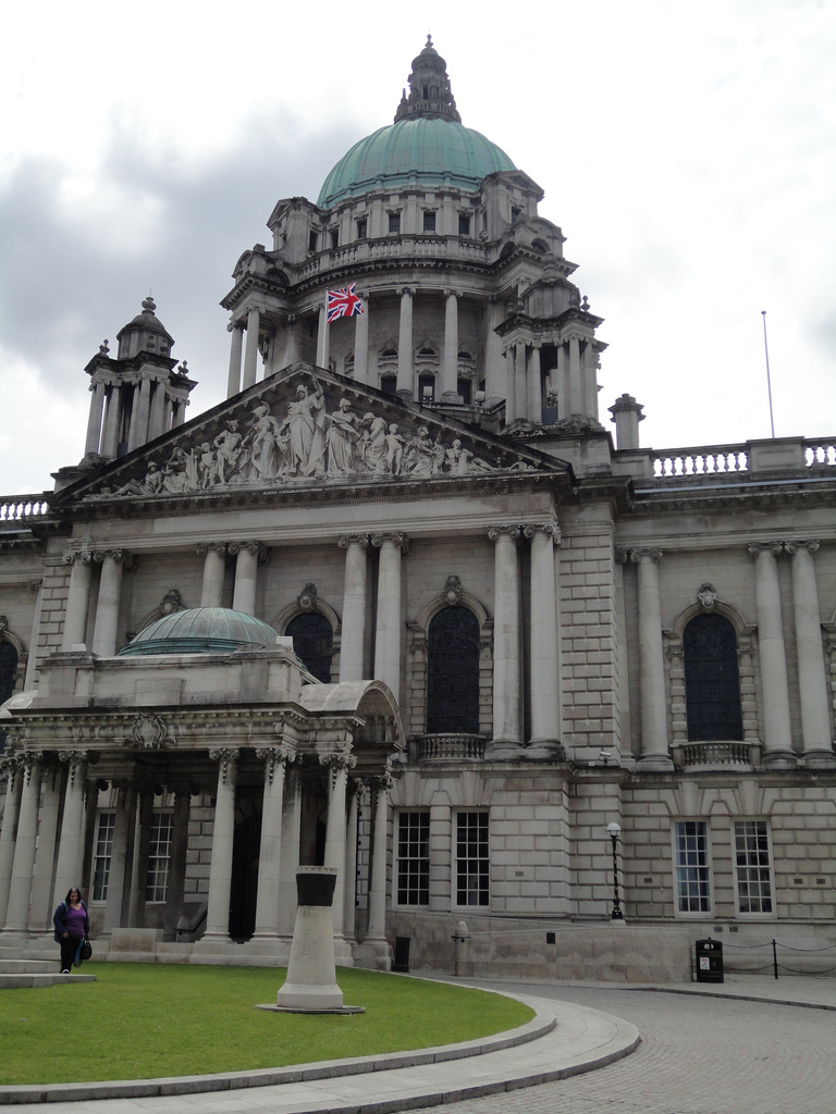City Hall with Union flag flying over it