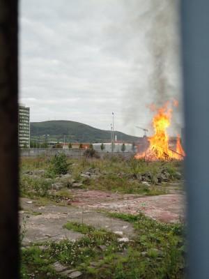 Donegall Road bonfire