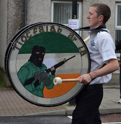 Illegal bass drum image as used by a RFB