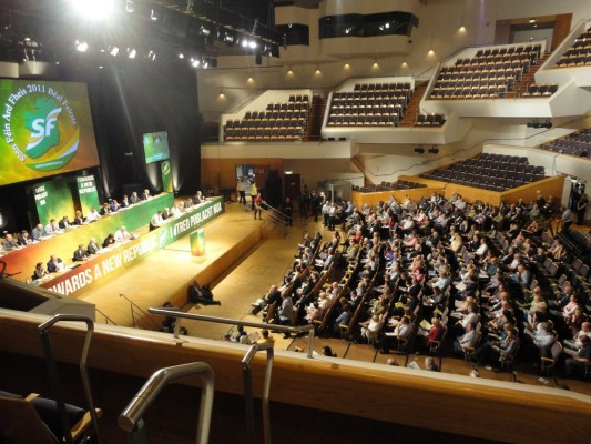 Friday night delegates at Ard Fheis 2011