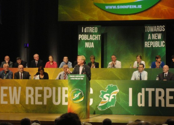 Rev David Latimer addresses the Ard Fheis 2011