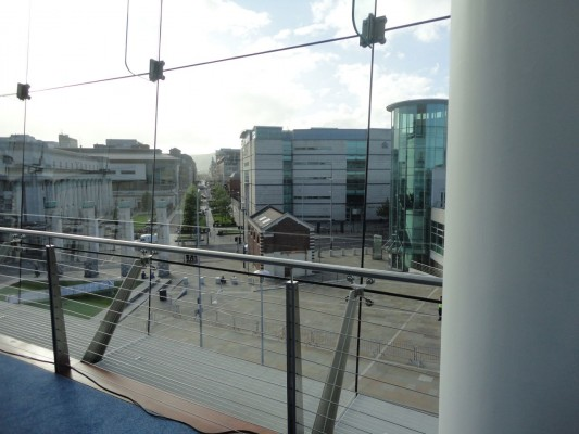 Looking at Laganside Courts from Waterfront Hall
