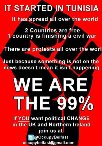 Occupy Belfast Fist poster