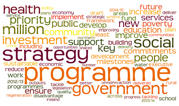 Programme for Government 2012-13 via wordle.net