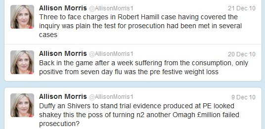 small sample of Allison Morris' tweets