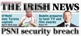 pixelated Irish News masthead