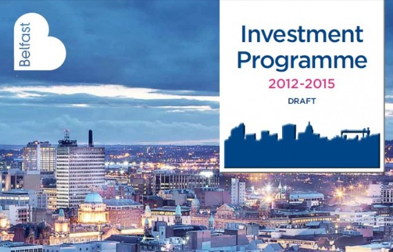 belfast city council draft investment programme 2012 2015 - front of brochure
