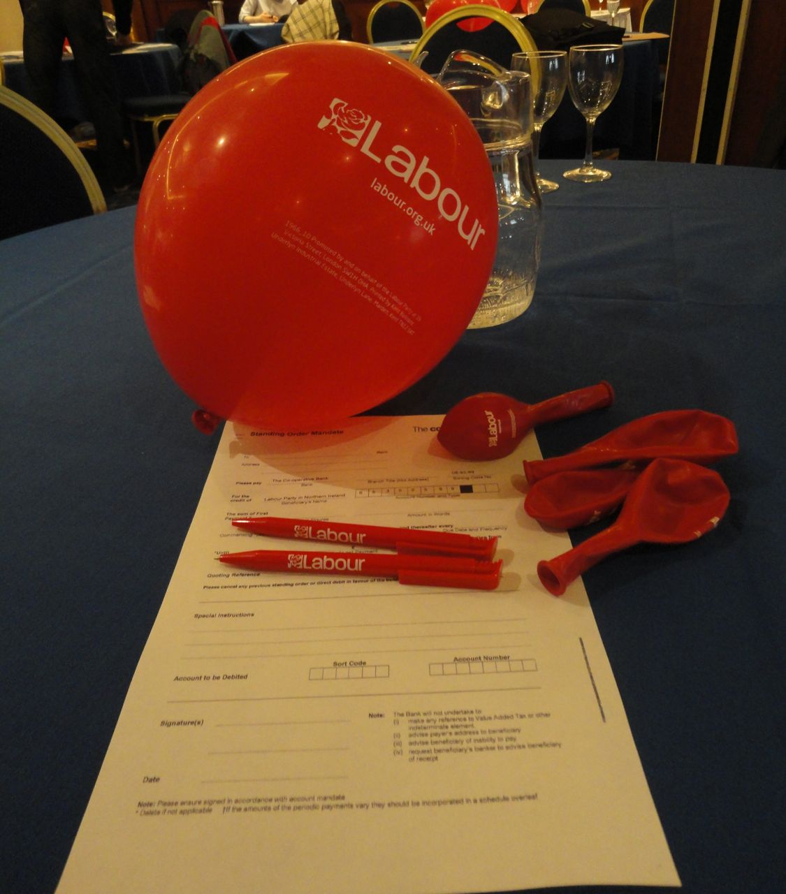 Labour NI AGM table goodies