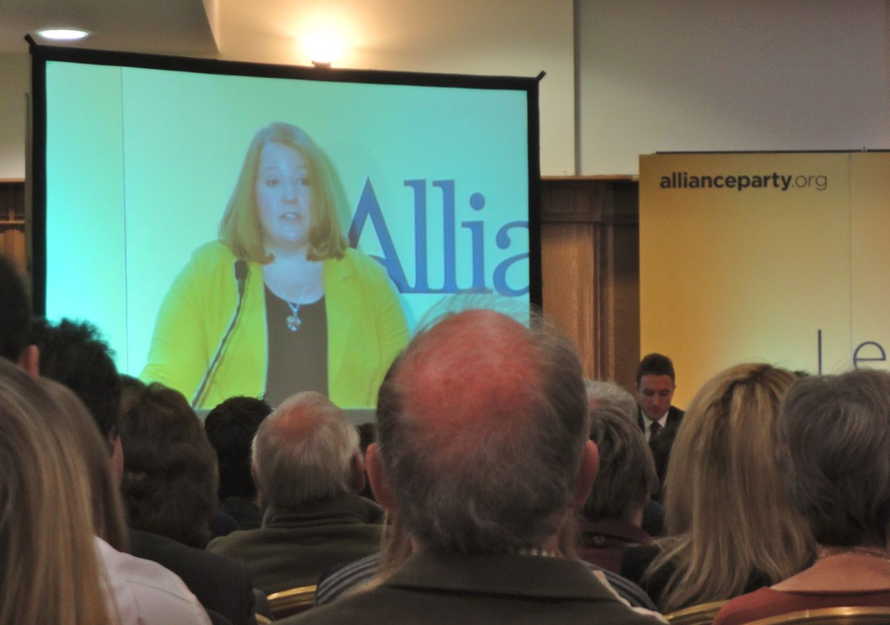 Deputy leader Naomi Long MP addressing Alliance Conference 2012