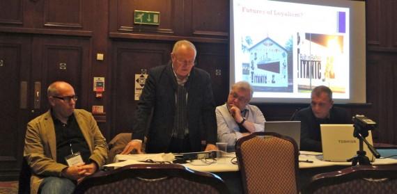 future of loyalism panel - L to R - Graham Spencer, Chris Hudson, Jim McAuley, Jackie McDonald