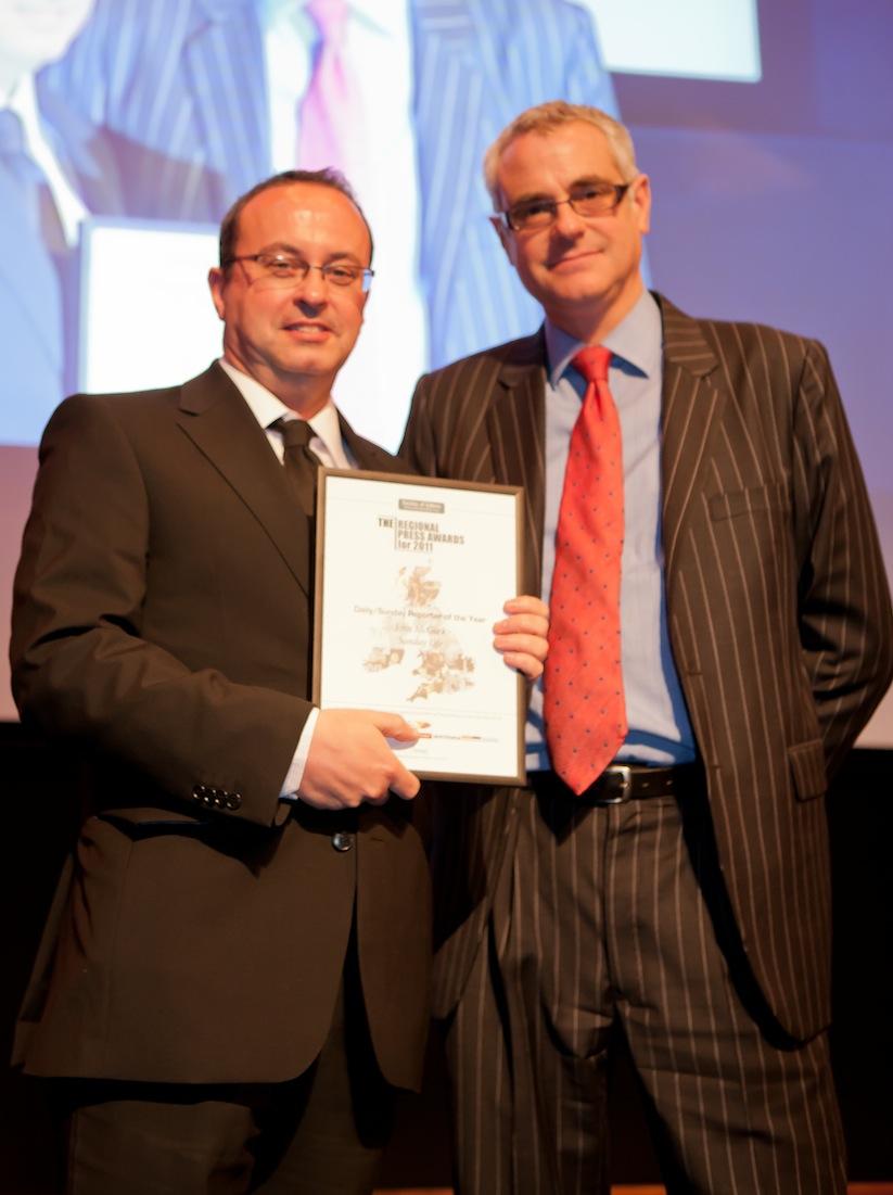 John McGurk (Sunday Life) - winner of Daily/Sunday Reporter of the Year 2011