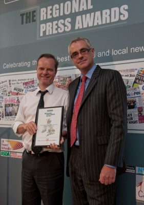 Belfast Telegraph editor Mike Gilson - Daily/Sunday paper of the Year 2011 (above 25k circulation)