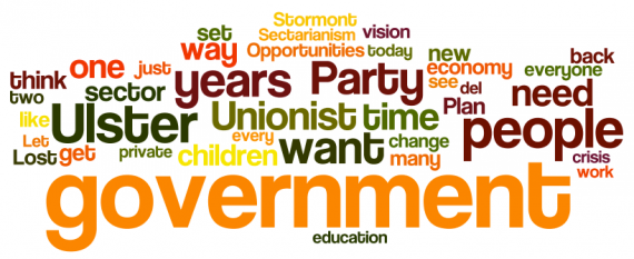 Mike Nesbitt speech to 2012 UUP conference - via wordle.net