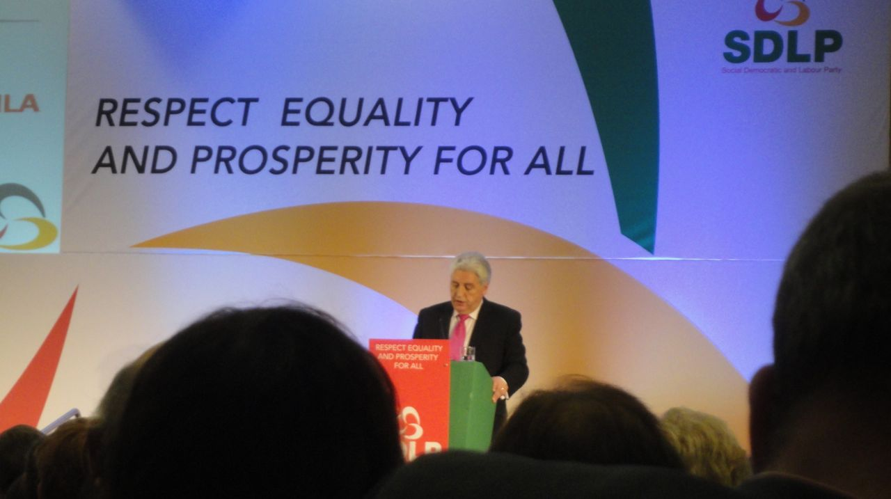 Alasdair McDonnell speaking at 2012 SDLP Conference