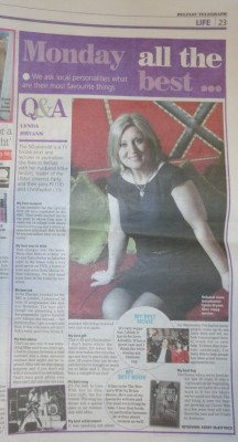 Lynda Bryans Q&A in Belfast Telegraph Monday 18 February 2013