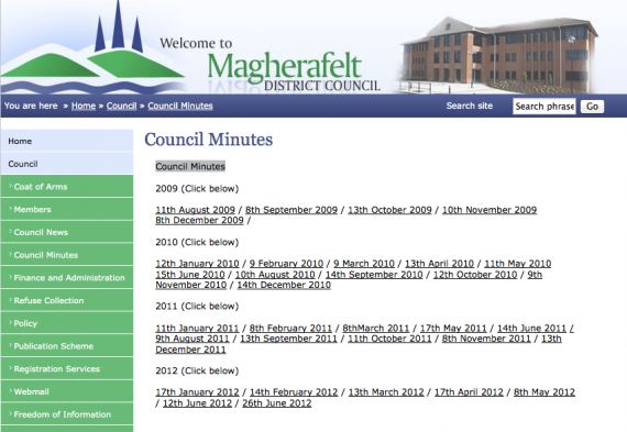 Magherafelt council minutes missing