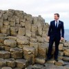 Prime Minister David Cameron on Giants Causeway