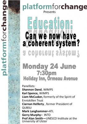 Platform for Change poster education