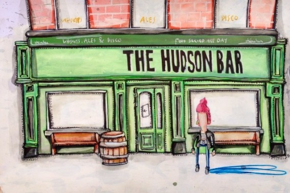 The Hudson Bar, Belfast - Brian John Spencer
