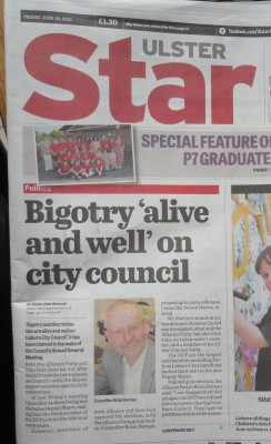 Ulster Star Bigotry