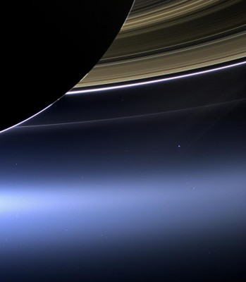 Cassini image of Earth in Saturn's rings
