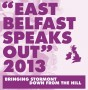 East Belfast Speaks Out Nov 2013 poster