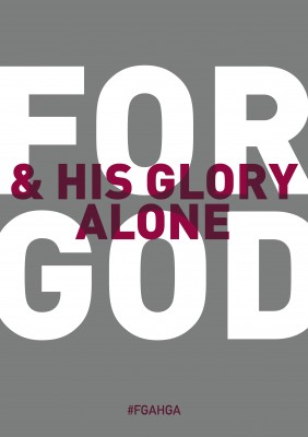 For God And His Glory Alone cover 2013 edition