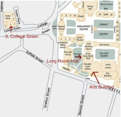 TCD campus map