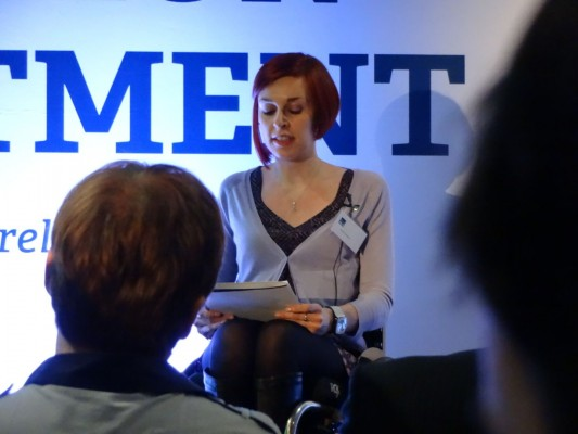 Alison Crawford addressing NI21 conference