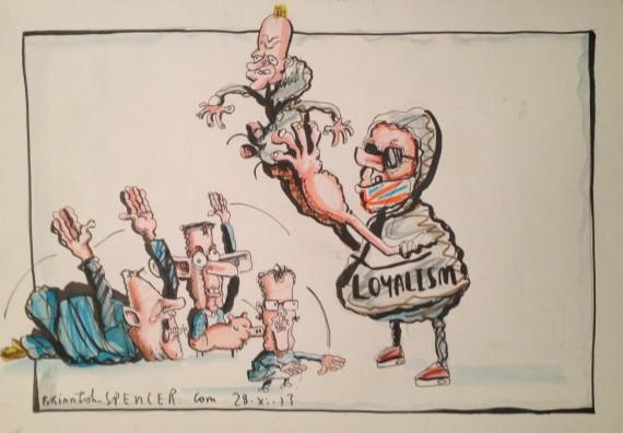 Cartoon - A leader is born