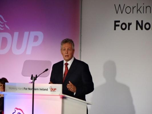 Peter Robinson speaking