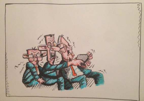 Edwin Poots cartoon, Brian John Spencer
