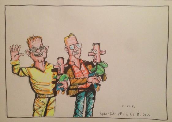 Northern Ireland cartoonist, Brian John Spencer