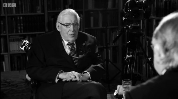 still from eamonn mallie ian paisley interview