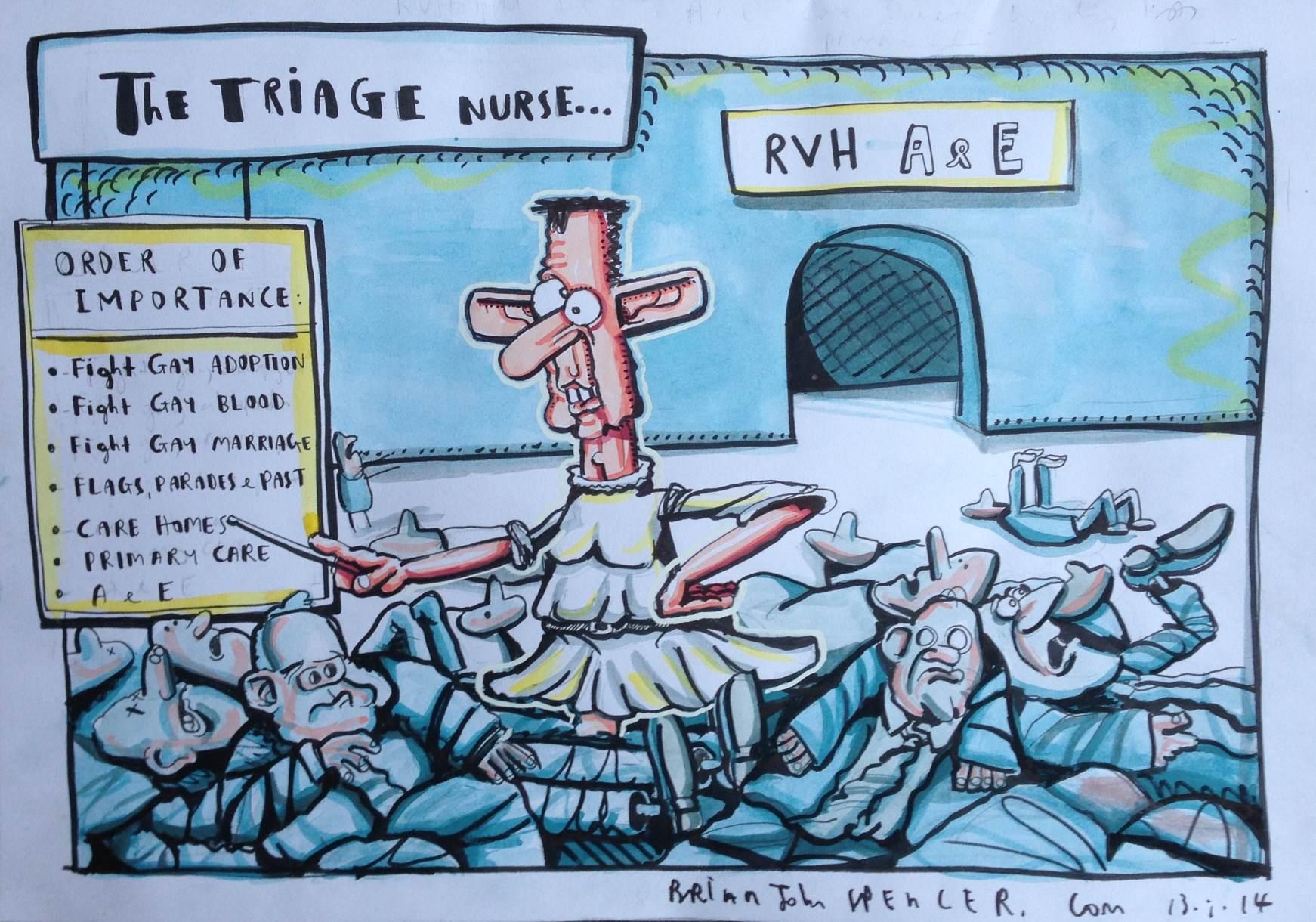 cartoon  u2013 the triage nurse