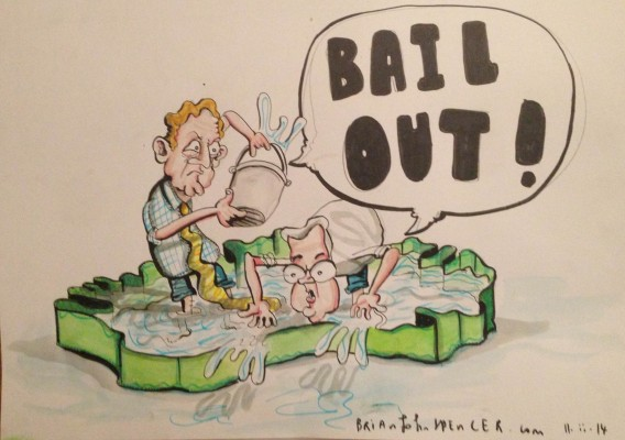 Enda Kenny cartoon, Brian John Spencer