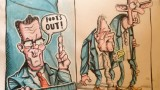 Mike Nesbitt, Edwin Poots cartoon, Brian John Spencer