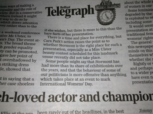 BelTel Editorial Cara Park Alternative Ms Ulster